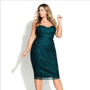 Show stopping emerald green cocktail dress size 16